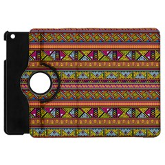 Traditional Africa Border Wallpaper Pattern Colored 2 Apple Ipad Mini Flip 360 Case by EDDArt