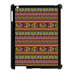 Traditional Africa Border Wallpaper Pattern Colored 2 Apple Ipad 3/4 Case (black) by EDDArt