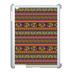 Traditional Africa Border Wallpaper Pattern Colored 2 Apple Ipad 3/4 Case (white) by EDDArt