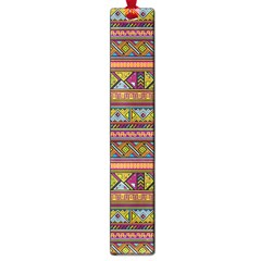 Traditional Africa Border Wallpaper Pattern Colored 2 Large Book Marks by EDDArt