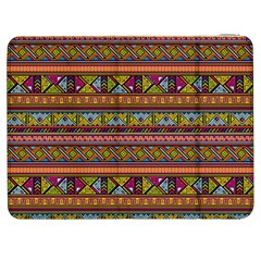 Traditional Africa Border Wallpaper Pattern Colored 2 Samsung Galaxy Tab 7  P1000 Flip Case by EDDArt