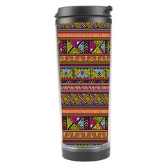 Traditional Africa Border Wallpaper Pattern Colored 2 Travel Tumbler by EDDArt