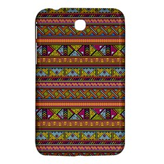 Traditional Africa Border Wallpaper Pattern Colored 2 Samsung Galaxy Tab 3 (7 ) P3200 Hardshell Case  by EDDArt