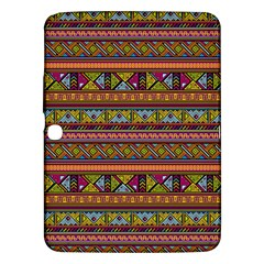 Traditional Africa Border Wallpaper Pattern Colored 2 Samsung Galaxy Tab 3 (10 1 ) P5200 Hardshell Case  by EDDArt