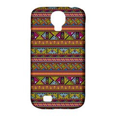Traditional Africa Border Wallpaper Pattern Colored 2 Samsung Galaxy S4 Classic Hardshell Case (pc+silicone) by EDDArt