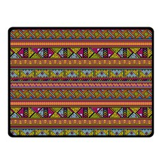Traditional Africa Border Wallpaper Pattern Colored 2 Double Sided Fleece Blanket (small)  by EDDArt