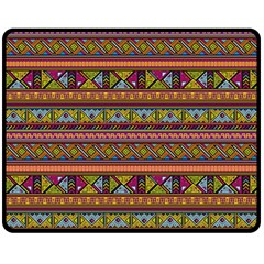 Traditional Africa Border Wallpaper Pattern Colored 2 Double Sided Fleece Blanket (medium)  by EDDArt