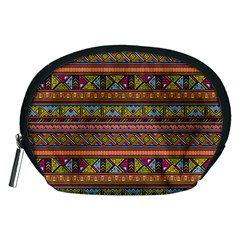 Traditional Africa Border Wallpaper Pattern Colored 2 Accessory Pouches (medium)