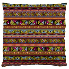 Traditional Africa Border Wallpaper Pattern Colored 2 Large Flano Cushion Case (one Side) by EDDArt