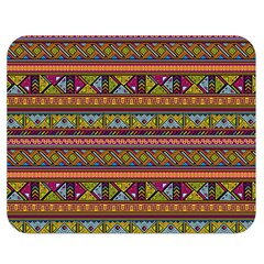 Traditional Africa Border Wallpaper Pattern Colored 2 Double Sided Flano Blanket (medium)  by EDDArt