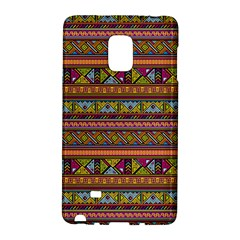Traditional Africa Border Wallpaper Pattern Colored 2 Samsung Galaxy Note Edge Hardshell Case by EDDArt