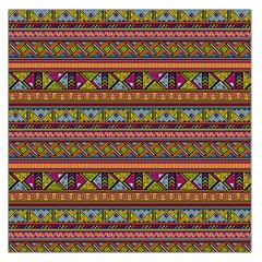 Traditional Africa Border Wallpaper Pattern Colored 2 Large Satin Scarf (square) by EDDArt
