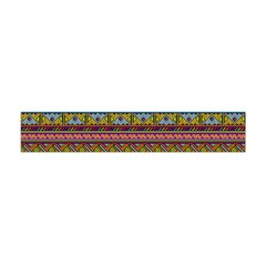 Traditional Africa Border Wallpaper Pattern Colored 2 Flano Scarf (mini) by EDDArt