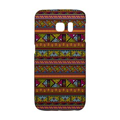 Traditional Africa Border Wallpaper Pattern Colored 2 Samsung Galaxy S6 Edge Hardshell Case by EDDArt