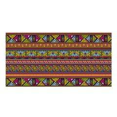 Traditional Africa Border Wallpaper Pattern Colored 2 Satin Shawl by EDDArt