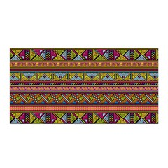 Traditional Africa Border Wallpaper Pattern Colored 2 Satin Wrap by EDDArt