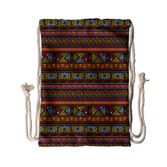 Traditional Africa Border Wallpaper Pattern Colored 2 Drawstring Bag (small) by EDDArt