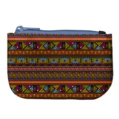 Traditional Africa Border Wallpaper Pattern Colored 2 Large Coin Purse by EDDArt