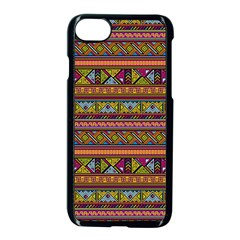 Traditional Africa Border Wallpaper Pattern Colored 2 Apple Iphone 7 Seamless Case (black) by EDDArt