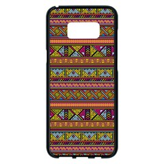 Traditional Africa Border Wallpaper Pattern Colored 2 Samsung Galaxy S8 Plus Black Seamless Case by EDDArt
