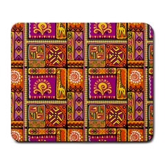 Traditional Africa Border Wallpaper Pattern Colored 3 Large Mousepads by EDDArt
