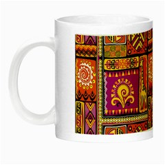 Traditional Africa Border Wallpaper Pattern Colored 3 Night Luminous Mugs by EDDArt