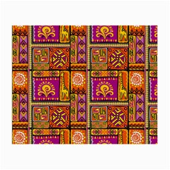 Traditional Africa Border Wallpaper Pattern Colored 3 Small Glasses Cloth by EDDArt