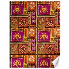 Traditional Africa Border Wallpaper Pattern Colored 3 Canvas 36  X 48   by EDDArt