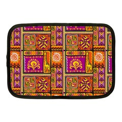 Traditional Africa Border Wallpaper Pattern Colored 3 Netbook Case (medium)  by EDDArt