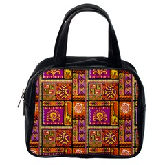 Traditional Africa Border Wallpaper Pattern Colored 3 Classic Handbags (one Side) by EDDArt