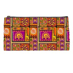 Traditional Africa Border Wallpaper Pattern Colored 3 Pencil Cases by EDDArt