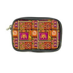 Traditional Africa Border Wallpaper Pattern Colored 3 Coin Purse by EDDArt