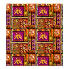 Traditional Africa Border Wallpaper Pattern Colored 3 Shower Curtain 66  X 72  (large)  by EDDArt