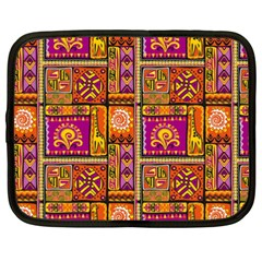 Traditional Africa Border Wallpaper Pattern Colored 3 Netbook Case (xxl)  by EDDArt