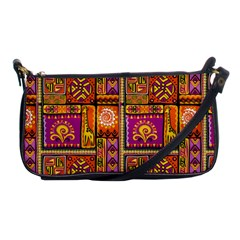 Traditional Africa Border Wallpaper Pattern Colored 3 Shoulder Clutch Bags by EDDArt