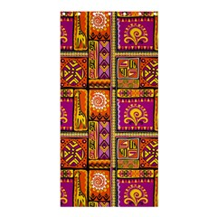Traditional Africa Border Wallpaper Pattern Colored 3 Shower Curtain 36  X 72  (stall)  by EDDArt