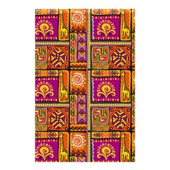 Traditional Africa Border Wallpaper Pattern Colored 3 Shower Curtain 48  X 72  (small)  by EDDArt