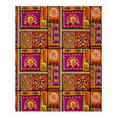 Traditional Africa Border Wallpaper Pattern Colored 3 Shower Curtain 60  X 72  (medium)  by EDDArt