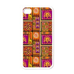 Traditional Africa Border Wallpaper Pattern Colored 3 Apple Iphone 4 Case (white) by EDDArt