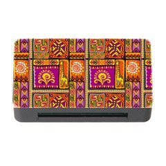 Traditional Africa Border Wallpaper Pattern Colored 3 Memory Card Reader With Cf by EDDArt