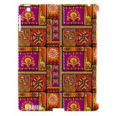 Traditional Africa Border Wallpaper Pattern Colored 3 Apple Ipad 3/4 Hardshell Case (compatible With Smart Cover) by EDDArt