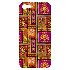 Traditional Africa Border Wallpaper Pattern Colored 3 Apple Iphone 5 Hardshell Case by EDDArt