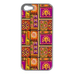 Traditional Africa Border Wallpaper Pattern Colored 3 Apple Iphone 5 Case (silver) by EDDArt