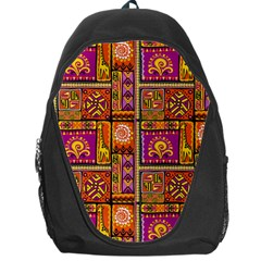 Traditional Africa Border Wallpaper Pattern Colored 3 Backpack Bag by EDDArt