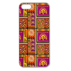 Traditional Africa Border Wallpaper Pattern Colored 3 Apple Seamless Iphone 5 Case (clear) by EDDArt