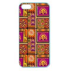 Traditional Africa Border Wallpaper Pattern Colored 3 Apple Seamless Iphone 5 Case (color) by EDDArt