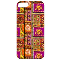 Traditional Africa Border Wallpaper Pattern Colored 3 Apple Iphone 5 Classic Hardshell Case by EDDArt
