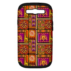 Traditional Africa Border Wallpaper Pattern Colored 3 Samsung Galaxy S Iii Hardshell Case (pc+silicone) by EDDArt