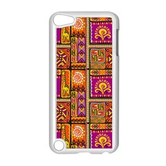 Traditional Africa Border Wallpaper Pattern Colored 3 Apple Ipod Touch 5 Case (white) by EDDArt