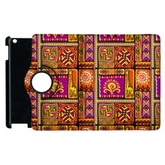 Traditional Africa Border Wallpaper Pattern Colored 3 Apple Ipad 3/4 Flip 360 Case
